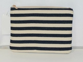 Viv and Lou M728VLCSTRP Black White Stripe Chandler Zip Pouch image 2