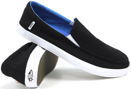 NWOB VANS AUTHENTIC BALI BLACK WHITE HEMP SHOES BOYS 12.5  SURF SIDERS SK8 - $28.01
