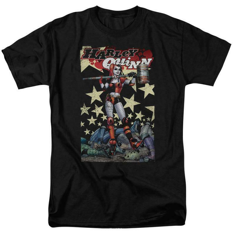 Harley Quinn t-shirt DC Comics Supervillain Gotham graphic tee BM2664
