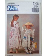 Vintage Butterick Holly Hobbie Pattern 5198 Girls Dress Petticoat Bloome... - $9.99