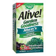 Nature's Way Alive! Garden Goodness Men's  Multivitamin, Veggie & Fruit Blend 14 image 3