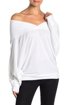 Free People Womens Sequoia OB967847 Long Sleeve Top White Size XS - $31.14