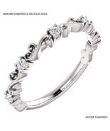 0.25 Carat Genuine Diamond Sculptural Designer Style Band in 14k Solid G... - $499.00