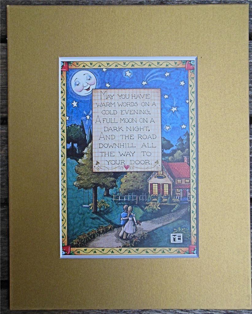 "Mary Engelbreit Print Matted 8 x 10"" ""Warm Words"""
