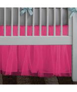 Hot Pink Tulle Lined Ruffled Crib Skirt / Mini Crib Skirt - $39.99+