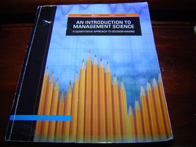 ACP An Introduction to Management Science 12TH ED 9781424072996 ANDERSON SWEENEY