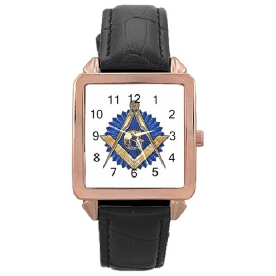 Ladies Rose Gold Leather Watch Freemason Gift model 37761759