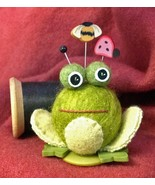 Fiona Frog Button Buddies pincushion kit JABC Just Another Button Co - $22.50