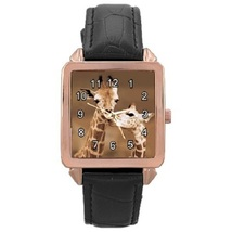 Ladies Rose Gold Leather Watch Giraffes First Love Gift model 37761790 - $19.99