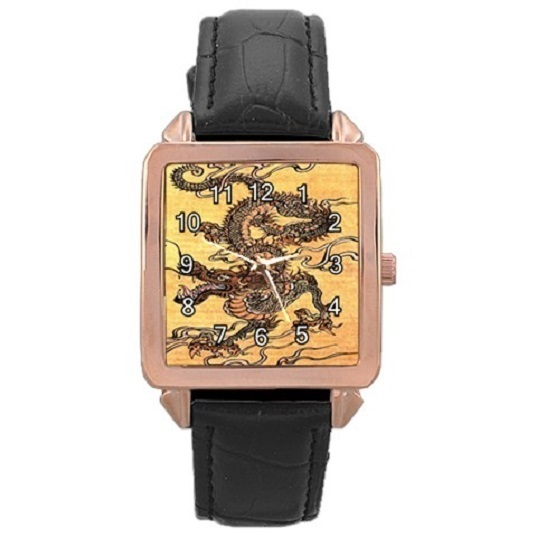 Ladies Rose Gold Leather Watch Japanese Dragon Gift model 37761773