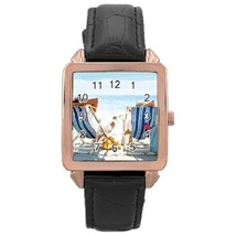 Ladies Rose Gold Leather Watch The Beach Gift model 37761283 - $19.99