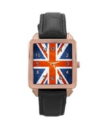 Ladies Rose Gold Leather Watch UK Grunge Flag Gift model 37761764 - $19.99