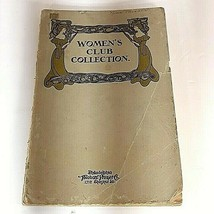 Vtg Antique 1908 Theodore Presser Women's Club Collection Song Book  - $9.95