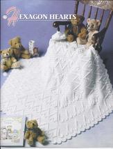 Hexagon Hearts Afghan Crochet Pattern~Annie's Quilt & Afghan Club~RARE - $29.99