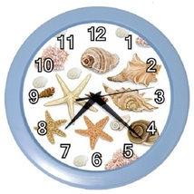 Seashells Sea Shells Decorative Wall Clock (Baby Blue) Gift model 32046781 - $19.99