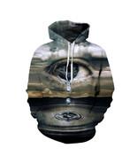Thin Hooded Hoodies Print Clouds Big Crying Eyes 3d Sweatshirts - $25.00