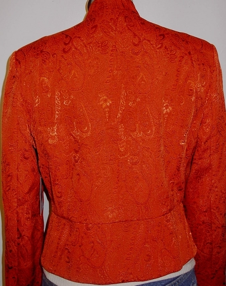 Orange Shimmery Horse Show Hobby Rail Jacket Petite Large Showmanship Western