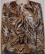 Tiger Print Western Horse Show Hobby Halter Jacket 10  - $75.00