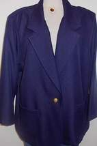 Navy Horse Show Down Hobby Halter Jacket Plus Size 26W  - $60.00