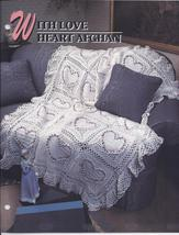 With Love Heart Afghan Crochet Pattern~RARE - $32.99