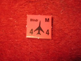 1988 The Hunt for Red October Board Game Piece: Blindr red Square Counter - $1.00