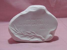 pyop John 14:6 Prayer Rock Ready to Paint U Paint Religious Ceramic Bisque - $5.99