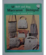 Book Macrame 1971 12 Belt and Bag Designs w/ Knot Reference Section Vint... - $7.99