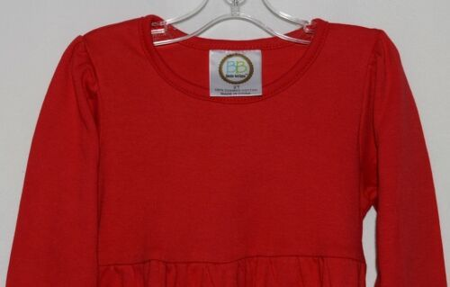 Blanks Boutique Red Long Sleeve Empire Waist Ruffle Dress Size 2T
