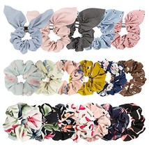 TOBATOBA 18pcs Hair Scrunchies Flowers Elastic Hair Bands Scrunchy Hair ... - $11.63