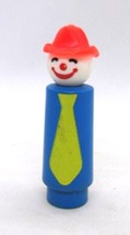 """Fisher Price Little People Circus Tall Clown w/ Fireman Hat 3.75"""" tall V... - $9.99"""