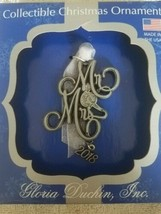 Mr. & Mrs. 2018 Christmas Ornament upc 089102312822  - $39.48