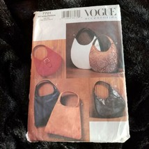 Vogue 7701 Lined Evening Bag Purse Handbag Six Styles UNCUT - $11.74