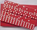 DOMINOES dominos DOUBLE SIX STANDARD Fast Ship Red