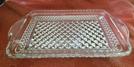 """Vintage Anchor Hocking Wexford Rectangle Glass Tray Relish Tray - 9 3/4"""" X 5"""""""