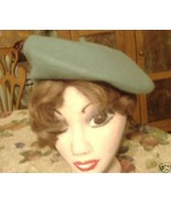 Beret green Paris artist tam hat cap unisex - $5.00