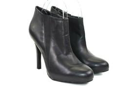 Jessica Simpson Svetlananax Women's Black Leather Heeled Booties Size 7.5 B  - $38.24
