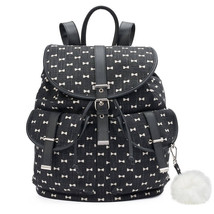 Mudd, Black with White Bows Backpack - $59.99