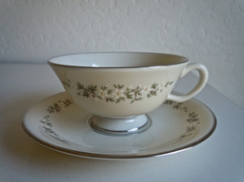 Lenox Brookdale Footed Cup and Saucer Set - $10.29