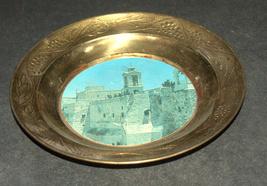 Vintage Bethlehem Nativity Church Plate Trinket Tray Wall Hang Christmas Israel image 4
