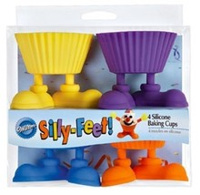 Wilton Silly- Feet Silicone Baking Cups , 4-Count - $14.85