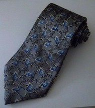 Robert Talbott Best of Class Geometric Men's 100% Silk Necktie Silver Bl... - $14.99