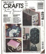 McCalls Crafts 6278 11 Gifts in Minutes Garment Bag, Totes, Sewing Caddi... - $4.99