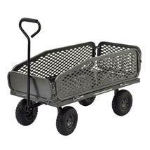 Outdoor Garden Cart with Collapsible Side in 550 Lbs Load Capacity Crate... - $140.35