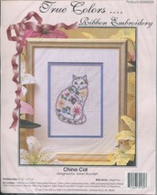 "True Colors Ribbon Embroidery China Cat Pattern Kit Beginner 4.5"" x 6.5""... - $19.79"