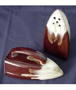 Brown Drip IRON Salt and Pepper Shakers - Marke... - $6.00
