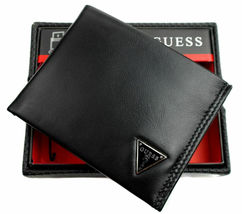 Guess Men's Leather Credit Card Id Wallet Passcase Bifold Black 31GU22X030 image 7