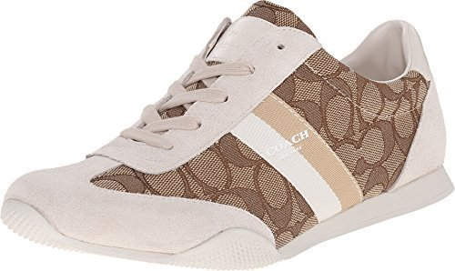 Coach Kelson Outline Womens Sneaker Size US 10 Khaki / Chalk