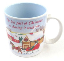 The Best Part of Christmas Is Sharing It with you White Porcelain Mug, b... - $13.99