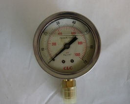Hydraulic Pressure Gauge 1000PSI - $15.50