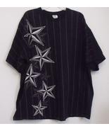 Mens Delta Black Gray Stripe Short Sleeve T Shirt Size 3XL - $9.95